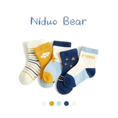 尼多熊2020春秋冬新款兒童無骨鬆口襪3-5-7歲男女兒童中筒純棉襪