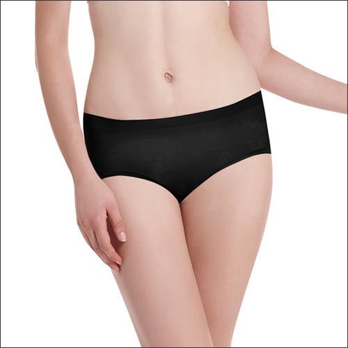 LADY 超彈力親膚無痕系列 中腰低衩三角褲 (黑色)