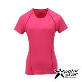 PolarStar 女 排汗快乾T恤『深粉紅』P17130 吸濕排汗透氣T-shirt短袖運動服瑜珈休閒服短袖透氣運動服