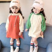 女童洋裝春裝2018新品嬰兒童裝女寶寶裙子小童連帽衛衣1-2-3歲4【鉅惠兩天 全館85折】