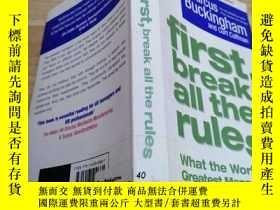 二手書博民逛書店外文書《first罕見break all the rules 》Y163703