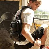 胸包 胸包男士包包 新款潮韓版背包男休閒斜背斜背包潮牌多功能跨包 雙11
