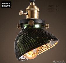 INPHIC- 工業風格復古吊燈美式創意咖啡館酒吧吧台鍋蓋鳥籠單頭吊燈-F款_S197C