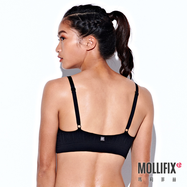 Mollifix 瑪莉菲絲 A++極簡可調肩帶美胸BRA (黑)