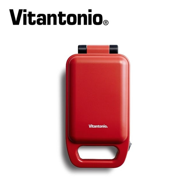Vitantonio 厚燒熱壓三明治機 熱壓吐司機 番茄紅 VHS-10B-TM