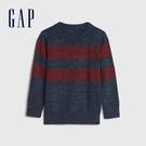 Gap男幼童 時尚條紋設計圓領針織衫 626752-紅藍條紋