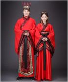 演出服 古裝中式漢式婚禮服紅色新娘新郎結婚服喜服漢服唐朝漢朝男女   沸點奇跡