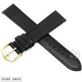 【台南 時代鐘錶 海奕施 HIRSCH】小牛皮錶帶 Umbria M  黑色 附工具 13700250  超強韌簡約百搭款