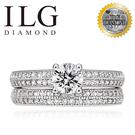 【ILG鑽】Dove 屬於你 0.50克拉套戒-頂級美國ILG鑽飾,媲美真鑽亮度的鑽飾 RI270