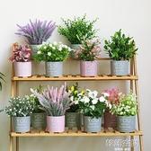 仿真綠植假花盆栽裝飾小擺件創意室內客廳網紅桌面北歐植物盆景