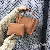 手提包小包包春女包潮流韓版百搭子母包時尚斜背手提斜背包 果果輕時尚