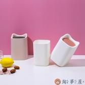 家用桌面垃圾桶可愛迷你小號垃圾筒臺面書桌【淘夢屋】