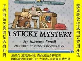 二手書博民逛書店A罕見Sticky Mystery英文原版繪本故事書 全綵精裝Y