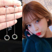 耳環女氣質個性百搭顯臉瘦的流蘇純銀韓版耳環JA623 『時尚玩家』