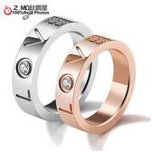 316L鈦鋼情侶對戒指 西洋白色情人節 生日送禮物 可搭手環 對項鍊 刻字 單個價【BKY528】Z.MO鈦鋼屋