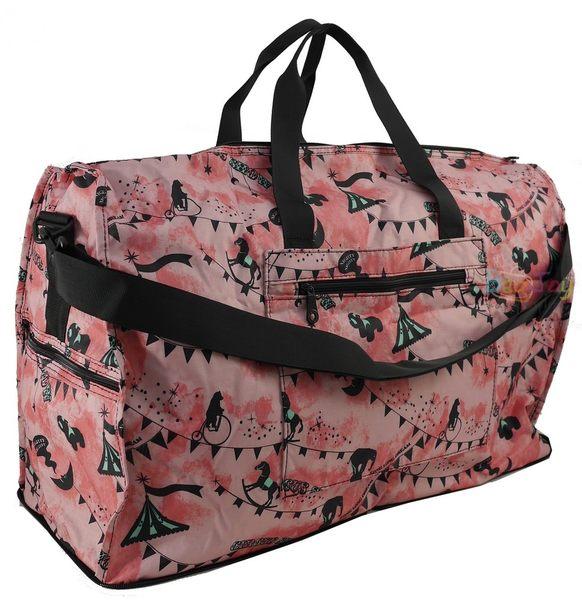HAPI+TAS 摺疊大旅行袋 - 粉紅馬戲團