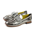 HUMAN PEACE 低跟鞋 休閒鞋 銀色 水鑽 漆皮 女鞋 1016-5-27 no006