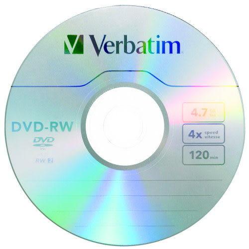 ◆今日下殺!!免運費◆Verbatim 威寶 AZO 4X DVD-RW 4.7GB(10片布丁桶裝X1)  10PCS