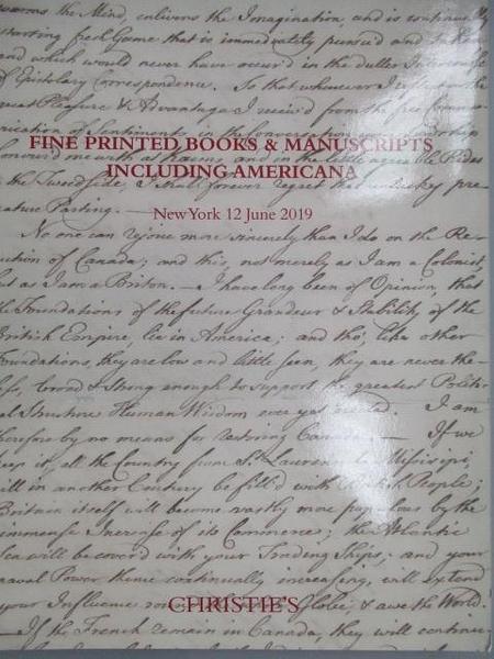 【書寶二手書T8/收藏_FA1】Christie s_Fine Printed Books&Manuscripts…20