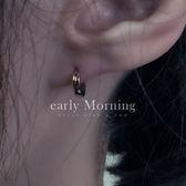 ✦ 正韓 ✦ early Morning - 鋼  細版 圓圈耳環 韓國帶回 極簡銅質 中性款【LDG003】
