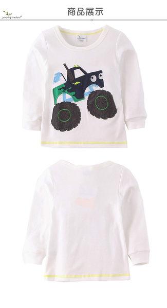 上衣 男童 霸氣越野車 歐美經典兒童純棉長袖T恤