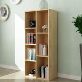 書櫃簡易兒童書櫃書架木質小櫃子儲物櫃簡約現代自由組合收納櫃置物櫃推薦xc