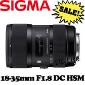 SIGMA 18-35mm F1.8 DC HSM EO 特大光圈變焦鏡 (公司貨) 一口價 FOR CANON