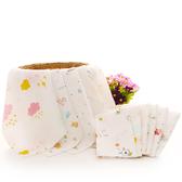 10條新生嬰兒雙層薄方巾純棉紗布口水巾寶寶洗臉小毛巾喂奶手帕軟