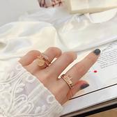 戒指 氣質滿鑽金屬戒指A-321-創翊韓都