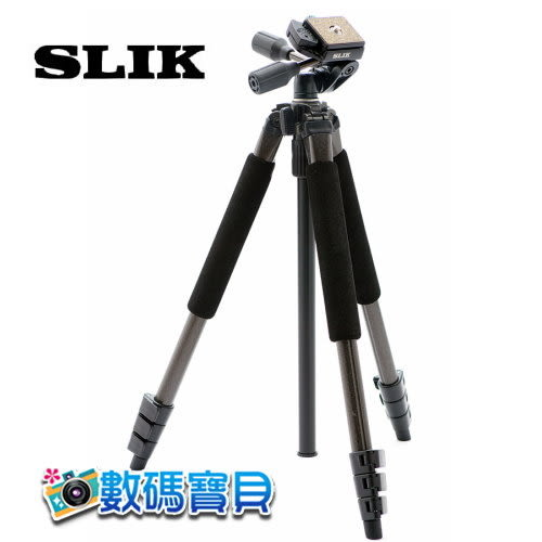 SLIK Sprint Pro II 3 Way 超輕型專業腳架 (附腳架背袋,含SH-704E三向雲台,立福公司貨)