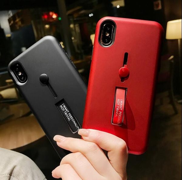 【SZ35】iphone x 手機殼 自帶隱形支架全包 iphone 7 plus手機殼 i6/7/8 plus 手機殼i6s手機殼