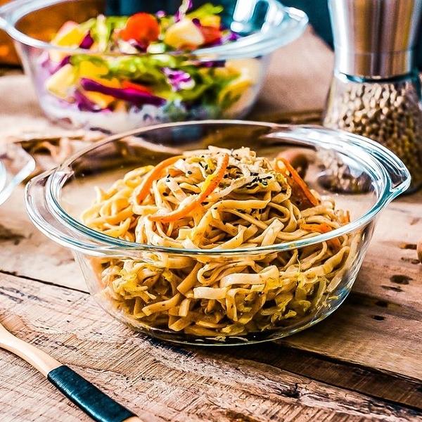 泡麵碗 耐熱玻璃打蛋盆微波爐專用器皿和面烘焙用具帶蓋湯碗沙拉泡面碗煲 星際小舖