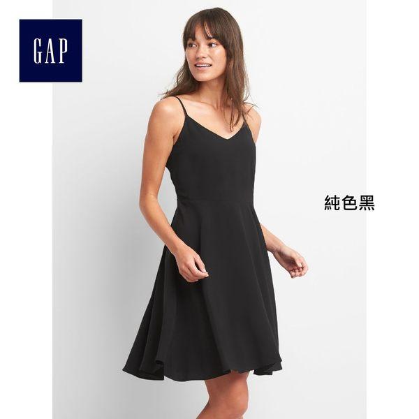Gap女裝 時尚舒適吊帶洋裝 223838-純色黑