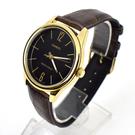 CASIO手錶 極簡數字咖金皮革錶NECK6