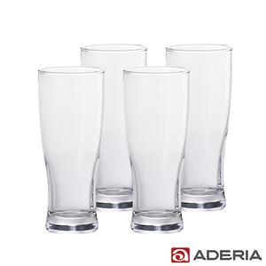 【ADERIA】日本進口玻璃啤酒杯4件套組- 410ml
