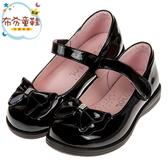 《布布童鞋》台灣製典雅蝴蝶結黑色亮皮公主鞋學生鞋(19.5~24公分) [ K9R966D ]