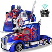 孩之寶 變形金剛5正版玩具男孩超大遙控汽車機器人擎天柱大黃蜂4