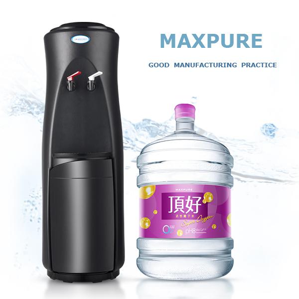 頂好 鹼性離子桶裝水 20L X 20瓶 + 立式溫熱飲水機(黑) 【桃園台北宅配】