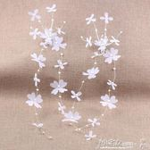 頭飾 新款韓式新娘簡約發飾套裝手工絹紗花朵頭飾結婚婚紗拍照禮服配飾 小宅女大購物