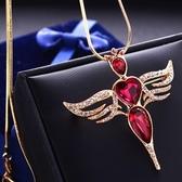 水晶毛衣鍊-鑲鑽小鳥生日母親節禮物女項鍊3色73gc114【時尚巴黎】