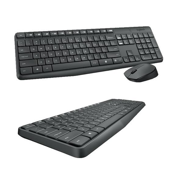 『時尚監控館』限宅配 全新 Logitech 羅技 MK235 無線滑鼠鍵盤組 光學追蹤定位技術