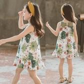 兒童夏裝女童裙子寶寶純棉背心裙中大童連身裙透氣洋氣童裙公主裙