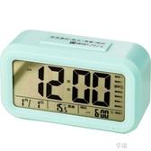 電子鬧鐘 智慧電子鬧鐘學生用充電靜音床頭夜光創意個性懶人多功能兒童專用  享購