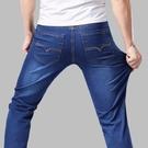 牛仔褲 夏季薄款褲子男士彈力牛仔褲男直筒寬鬆大碼長褲男裝休閒潮流男褲寶貝計畫 上新