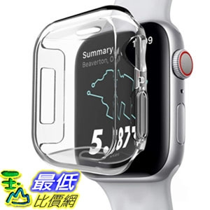 保護膜 Screen Protector Compatible Apple Watch Series 4 44mm, GHIJKL Ultra Slim Soft Full Cover