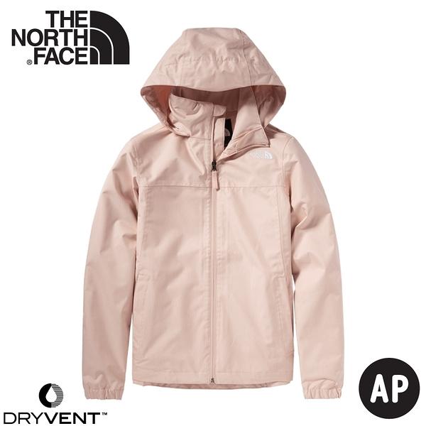 【The North Face 女 DV 防水外套《夜砂粉》】4N9V/防水透氣衝鋒衣/風雨衣