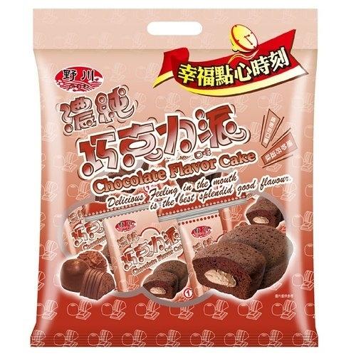 野川濃純巧克力口味派(19gx12入)/袋【康鄰超市】