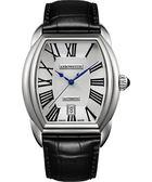 AEROWATCH Streamline 經典酒桶造型機械腕錶-銀/37mm A60959AA01
