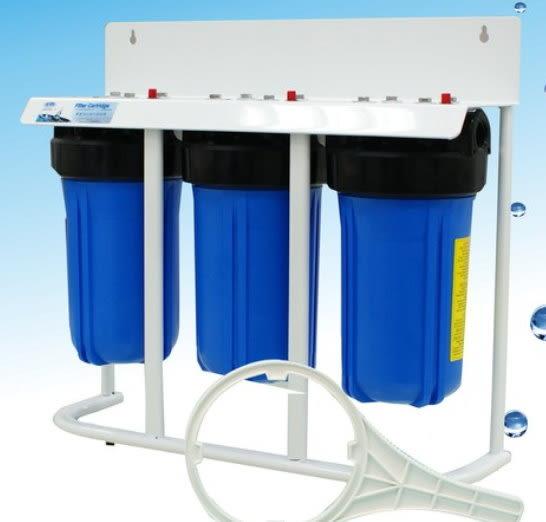 【水清淨淨水工程】10吋三管大胖過濾器(腳架型)淨水器