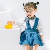牛仔吊帶洋裝 吊帶裙 洋裝 橘魔法 童洋裝Baby magic  現貨 女童 中童